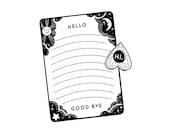 Spirit Board Notecard & Sticker Set - Lined Notecard