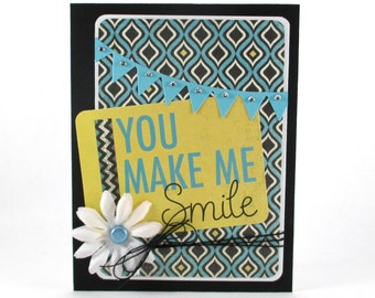 You make me smile, just because, thinking of you, friendship, proud of you, greeting cards, congratulations