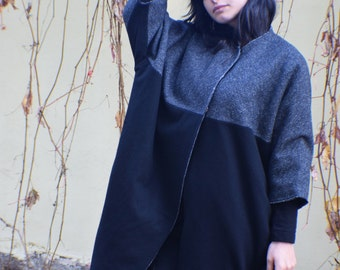 Winter Coat Black Wool Coat Womens Coat Black Coat