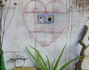 Wire Jewelry Display Wall Hanging Heart
