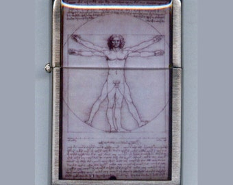 Da Vinci Vitruvian Man Refillable Lighter