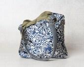 white and blue purse, blue bag, blue handbag, blue canvas purse, small purse, vegan purse, purse handbag, evening bag, evening purse