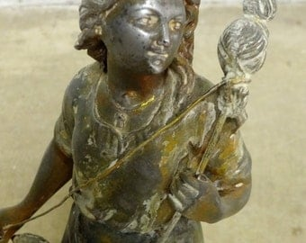 150 Year Old French Statue of Saint Joan of Arc.  RARE one of a kind!