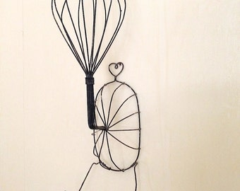 Vintage Wire Wig or Hat Stand
