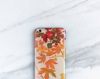 iPhone 6s Case Clear Fall Leaves iPhone 6S, Plus, Transparent Autumn Colors, Nature Lover Gift iPhone 7 Case, iPhone 7 Plus Case,