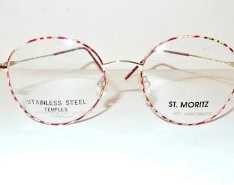 Vintage 80s Harry Potter Glasses Lennon Frame Gold tone Windsor Round Burns Sartre Marbled Tutti Frutti Tortoise Circular Sunglasses MOd