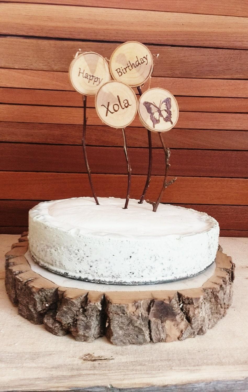 Sale tree slice centerpiece rustic wood cake