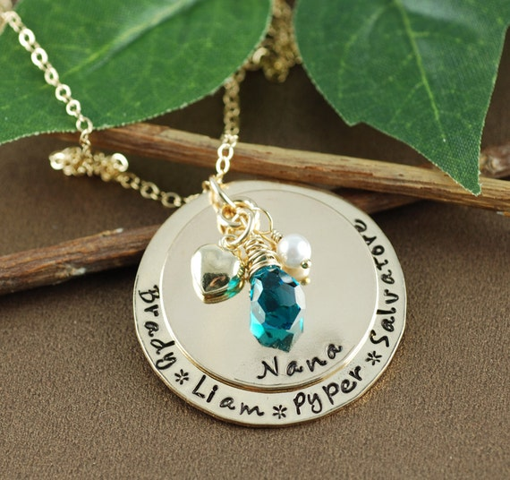 personalized grandma necklace