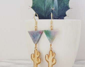 Sonoran Cactus Earrings