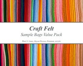 Craft Felt Sample Bags Value Pack