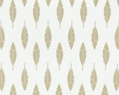 Premier Prints - Feather Silhouette - Athena Gold Metallic - Fabric By The Yard
