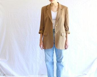 vintage cashmere boyfriend blazer 80s oversized jacket made in Italy