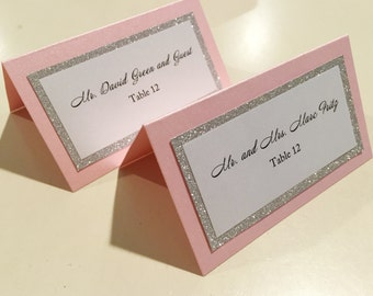 RESERVED for Rebecsimon - Glitter Place Cards