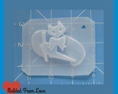SALE MFL Retro 50's Cat  with Bow and Back Handmade Plastic Mold