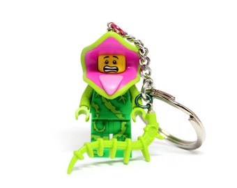 Plant Monster Keychain - made from Series 14 LEGO® Minifigure