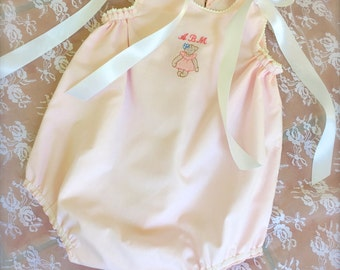 Baby Bubble Pink Romper Classic Traditional  Size 3 months to 2 years