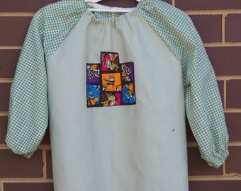 Child's art smock -  age 3 to 4 - Ninja Turtles