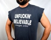 Vintage 90s 1991 Black Hills Classic Distressed Sturgis Biker Muscle Tshirt Tee Shirt
