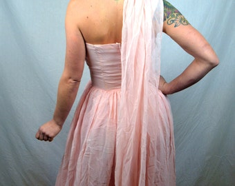 Vintage Pink 1950's Sweetheart Party Dress