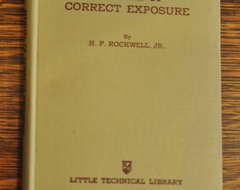 1941 Handy Manual of Correct Exposure Photographers Vintage Book