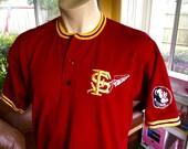 Florida State Seminoles 1980s vintage jersey tee - garnet size large