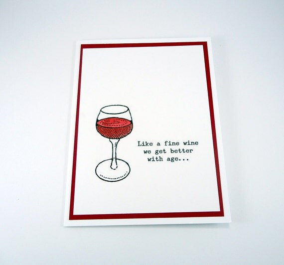Wine Birthday Card Funny Birthday Happy Birthday wine – Funny Birthday Cards About Getting Old