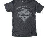 Adventure Graphic Tee -  mens camping tshirt, hiking print, fathers day gift, outdoor gifts