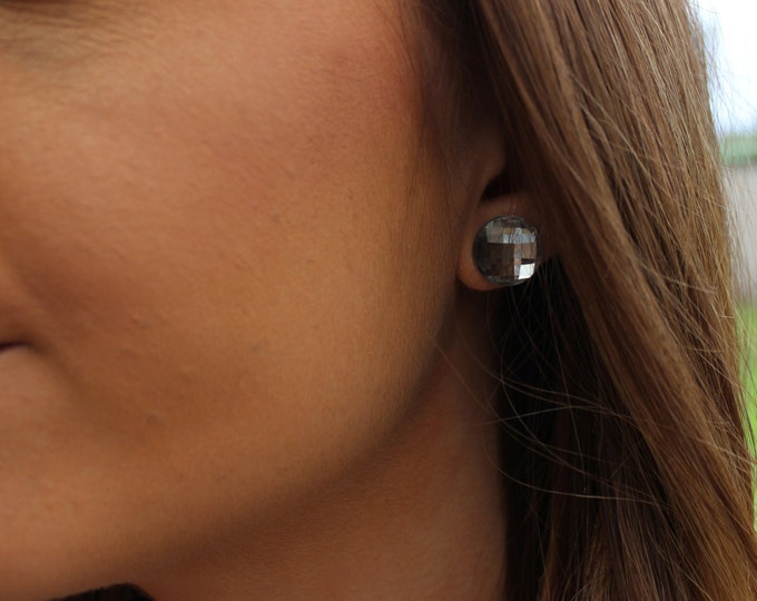 Disco Diamonte Post Stud Earrings.