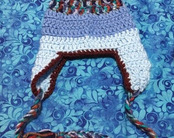 Boy Crochet Hat with Ear Flaps