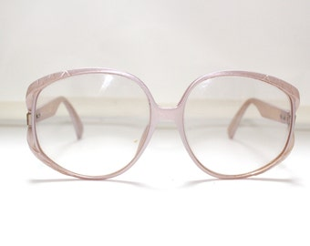 80s Christian Dior Eyeglasses Frames Women's Vintage 1980's Pink Frames Made in Germany by Optyl (EB)