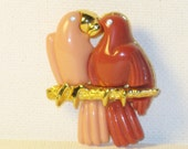 Vintage Lovebirds Brooch Pin (B-2-5)
