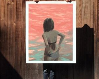 Sea Dream .  extra large wall art . giclee print