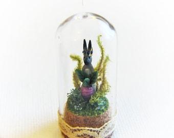 Royal Bunny with Radish -  Miniature Terrarium