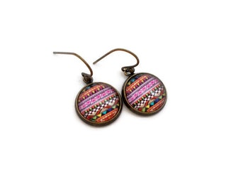Boho Jewelry, Tribal Earrings, Dangle Earrings, Colorful Earrings, Drop Earrings, Teen Jewelry, Teen Earrings, Gifts for Teen Girl, Simple