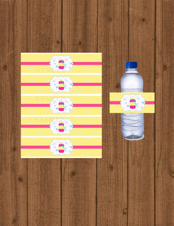 Bubble water bottle label wrapper girls bubble water for Bubble bottle label template