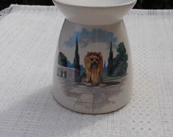 A Royal Yorkie! Ceramic Tea Light Tart Burner