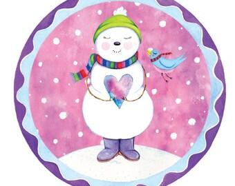 Holiday Card - Heartwarming Snowman