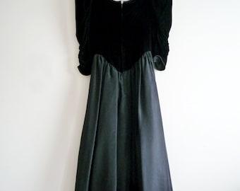 1970s Gunne Sax Dress, Gunne Sax Black Dress, SALE