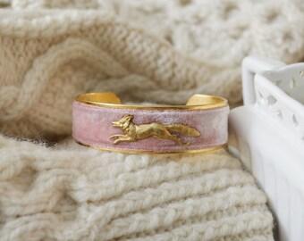 Women's Velvet Cuff Bracelet - Dainty Fox
