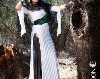 NEW: The White Stripe Panel Dress by Opal Moon Designs