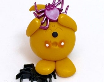 Halloween Parker with Spiders Figurine - Polymer Clay Character