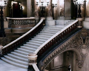 Paris Print, Opera House, Grand Staircase, Neutral, Opera Stairs, Architecture, Travel Prints