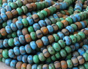 Size 6 Aged Seed Bead Mix - Picasso Seed Beads - Jewelry Making Supply - Beading Supplies laguna #2 Mix - Choose Amount