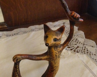 Vintage PETITES CHOSES Dancing Fox Fantasy Candlestick