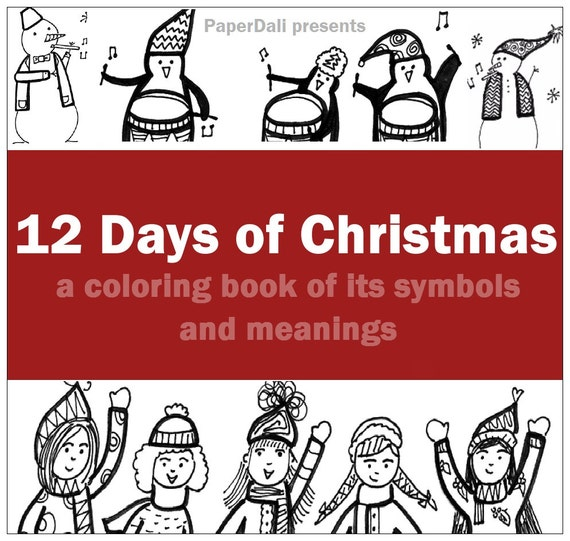 12 days of christmas coloring book downloadable pdf for 12 days of christmas coloring page