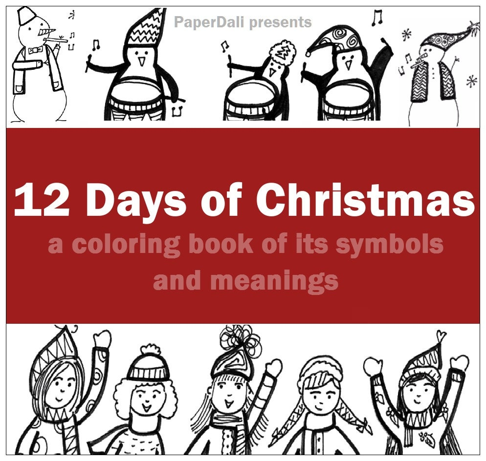 christmas coloring pages 12 days - photo#27