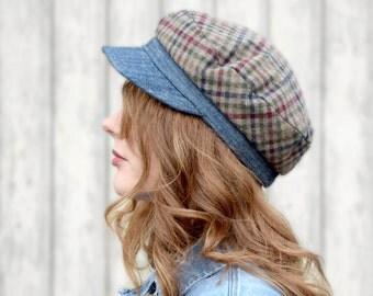 Denim Greek Fisherman Cap Wool Hat