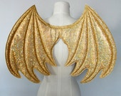 Gold Dragon Wings, wireless wings, costume dragon wings, golden wings, Halloween Costume, cosplay wings, cosplay dragon, pretend play