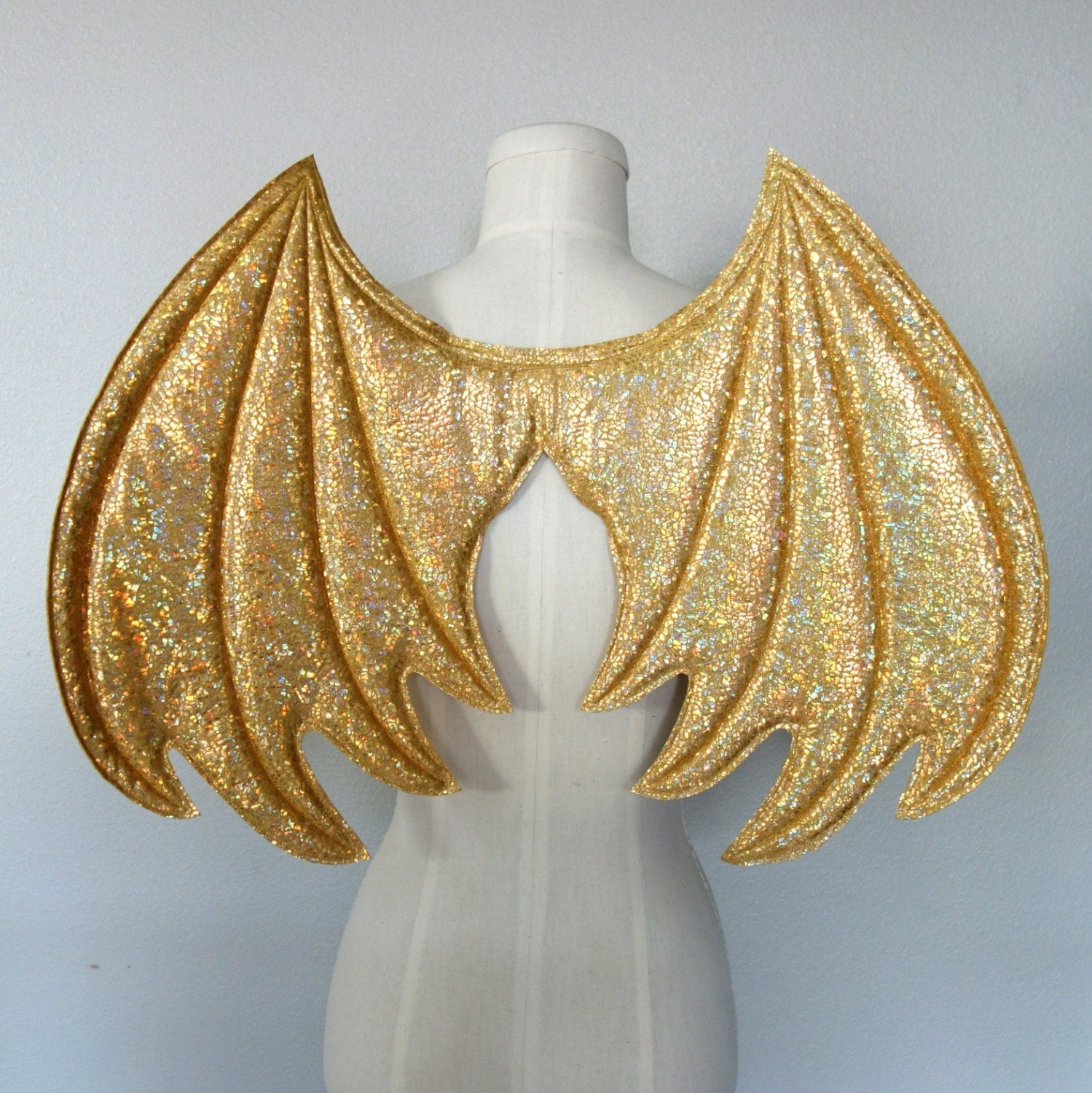 Gold Dragon Wings wireless wings costume dragon wings - photo#4