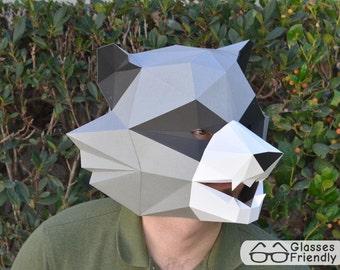 Raccoon Mask for the DIY-er - Paper Pattern Instant Download | Animal Mask | DIY Mask | Guardians